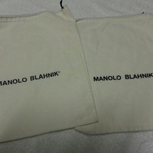Manolo blahnik dust bag. Selling both